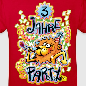 3 Jahre Party - Kinder Bio-T-Shirt