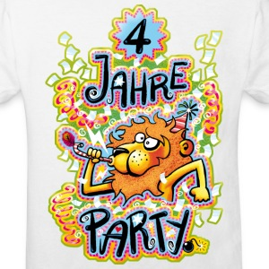 4 Jahre Party - Kinder Bio-T-Shirt