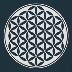 Flower of life - silver - sacred geometry - power  - Men's T-Shirt