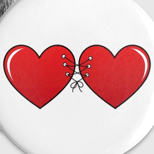 Hearts - Buttons groß 56 mm