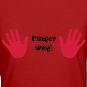 Finger weg! T-Shirts - Frauen Bio-T-Shirt