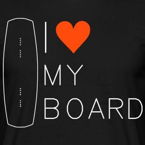 I love my wakeboard, wakeboarder, wakeboarding, kiteboarding, skateboarding, snowboarding, skiing - Men's T-Shirt