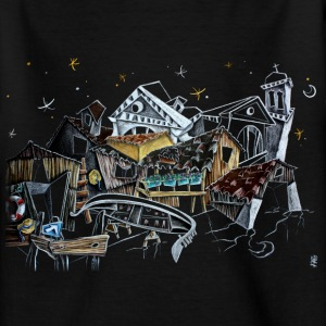Venice Comic Illustration - Italy at Night - Kids' T-Shirt