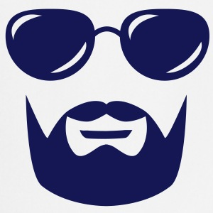 sunglasses mustache and beard Kookschorten - Keukenschort