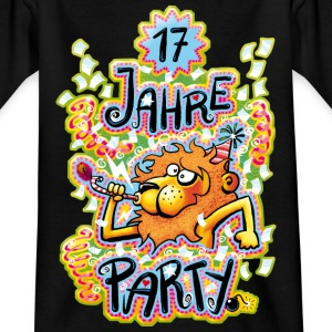 17 Jahre Party Kinder T-Shirts - Teenager T-Shirt