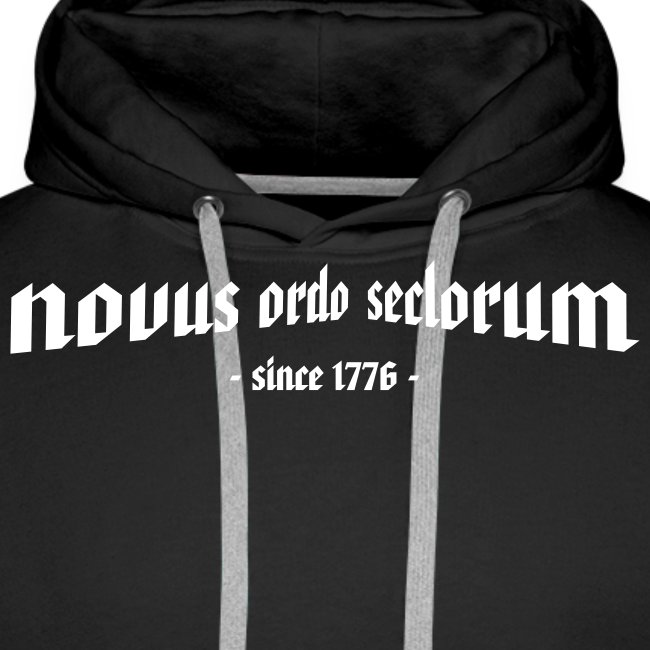 "Kapuzenpullover ""novus ordo seclorum"""