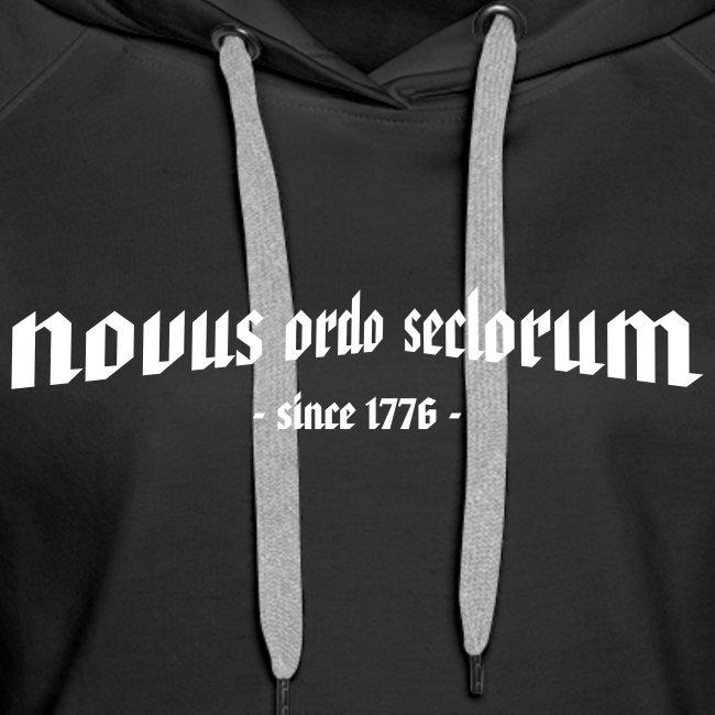 """Frauen Kapuzenpullover """"novus ordo seclorum"""""""