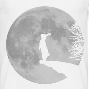 White Wolfinchen rabbit bunny bunnies hare jackass moon werewolf fullmoon ledge T-Shirts T-Shirts - Men's T-Shirt