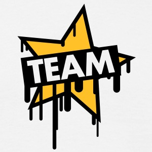 team_graffiti_star Tee shirts - T-shirt Homme