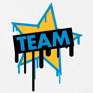 team_graffiti_star T-shirts - Herre-T-shirt