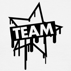 team_graffiti_star T-skjorter - T-skjorte for menn