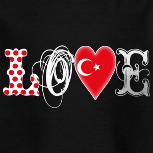 Love Turkey White Shirts - Kids' T-Shirt