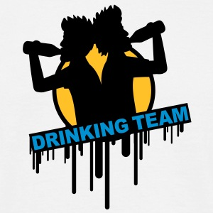 party_drinking_team_graffiti_stamp Tee shirts - T-shirt Homme