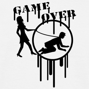 game_over_graffiti_stamp T-skjorter - T-skjorte for menn