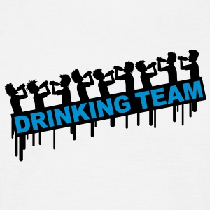 9_drinking_team T-shirts - Herre-T-shirt