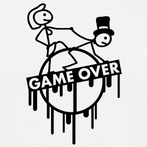 game_over_bachelor_graffiti_stamp T-shirts - Herre-T-shirt