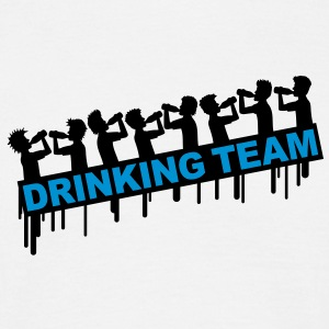 8_drinking_team T-shirts - Herre-T-shirt