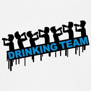 7_drinking_team T-shirts - Herre-T-shirt
