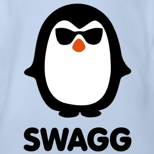 SWAGG pinguin Baby Shirts  - Organic Short-sleeved Baby Bodysuit