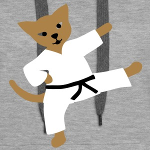 taekwondo cat Sweat-shirts - Sweat-shirt à capuche Premium pour femmes