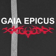 Design ~ Gaia Epicus Jacket Black - Logo on the back, name on the front, tribal on arms