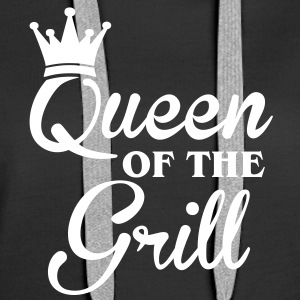 Queen of the Grill Felpe - Felpa con cappuccio premium da donna