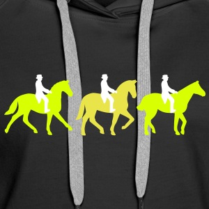 dressage Sweat-shirts - Sweat-shirt à capuche Premium pour femmes