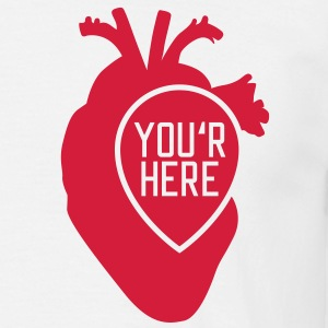 You are here | Heart T-Shirts - Männer T-Shirt