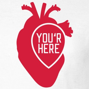 You are here | Heart T-Shirts - Frauen T-Shirt
