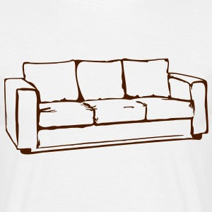 Ik ben verliefd, bank, bank, poef, fauteuil, bank, bank, bed, chill out, lounge, oma - Mannen T-shirt