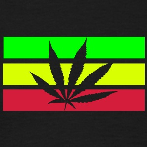 jamaica, hemp, grass smoke pot, joint, dowel, , reggae - Men's T-Shirt