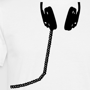 Headphones, DJ, headset, music, bass, sound, headphone T-Shirts - Men's T-Shirt