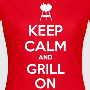 keep calm and grill on T-shirt - Maglietta da donna