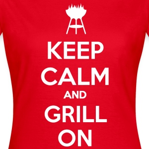 keep calm and grill on Tee shirts - T-shirt Femme