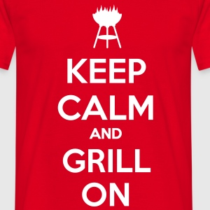 keep calm and grill on T-shirt - Maglietta da uomo
