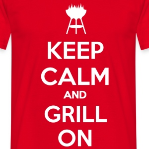 keep calm and grill on Camisetas - Camiseta hombre