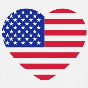 america heart T-Shirts - Men's T-Shirt