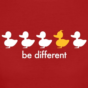 be different Ente Entchen Irokese Schnabel Punk Slogan Duck individuell Spruch einzigartig watscheln Schnabeltier T-Shirts - Frauen Bio-T-Shirt
