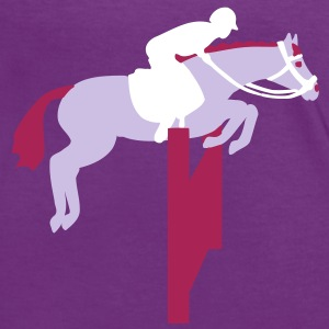 show jumping horse Camisetas - Camiseta contraste mujer