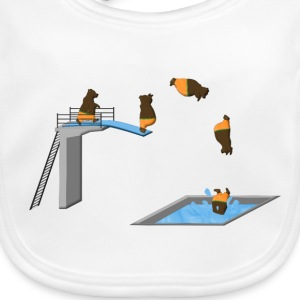 jumping bear Accessories - Baby økologisk hagesmæk