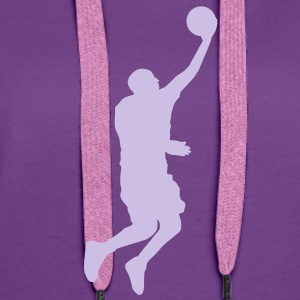 Basketball Player (layup) (Vector) - Frauen Premium Hoodie