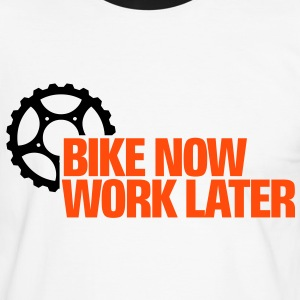 Bike now - work later 2 T-Shirts - Männer Kontrast-T-Shirt