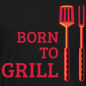 Born To Grill (Cutlery, 3C) T-Shirt - Men's T-Shirt