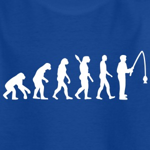 Evolution Angeln Kinder T-Shirts - Kinder T-Shirt