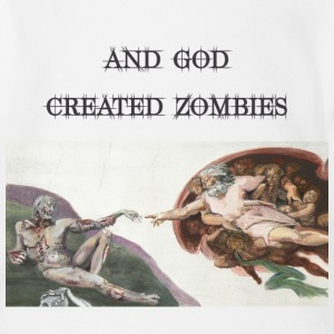 And God Created Zombies Baby Shirts  - Organic Short-sleeved Baby Bodysuit