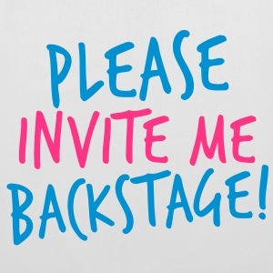 please invite me backstage! VIP CONCERT Tee Bags  - Tote Bag