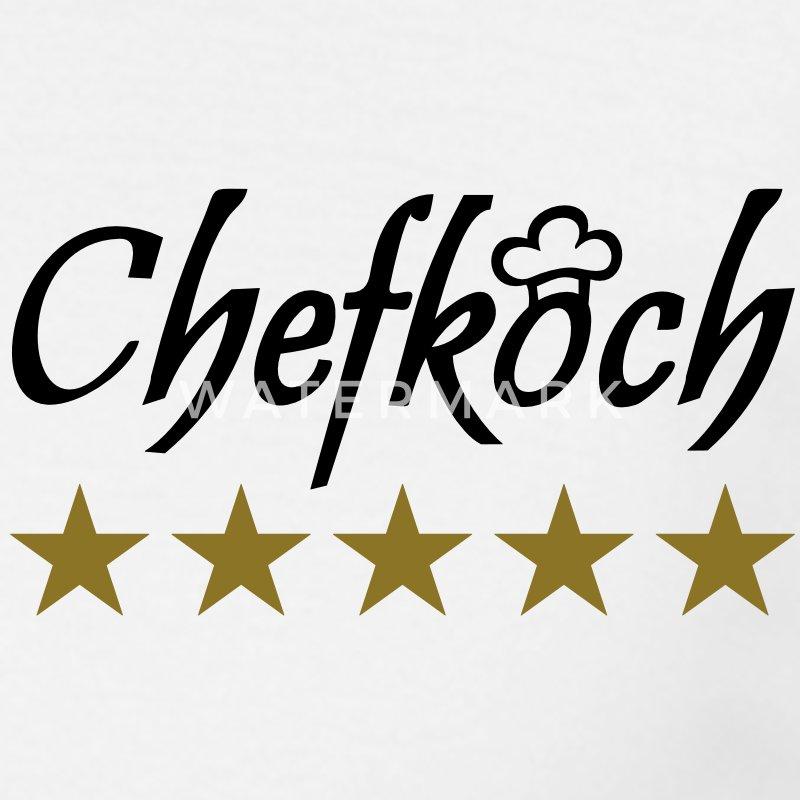Sterne chefkoch mit kochm tze koch sternekoch t shirt for Koch 5 sterne