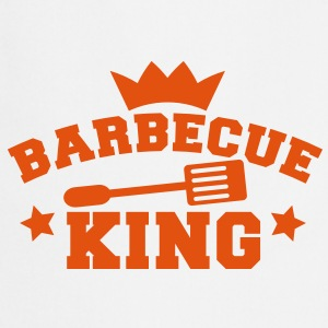barbecue bbq steak, king with with a crown   Aprons - Cooking Apron