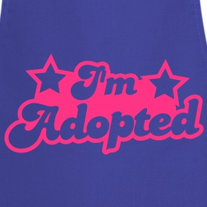 I'm adopted! super cute font with stars   Aprons - Cooking Apron
