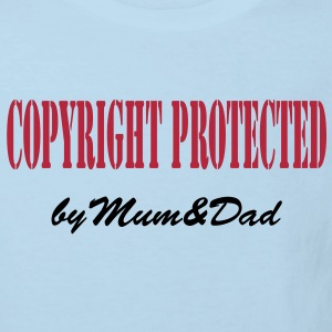 copyright protected by mum and dad T-shirts - Ekologisk T-shirt barn